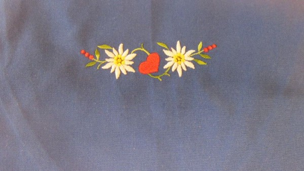 Original Südtiroler Schürze - Blumen