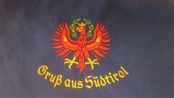 Original Südtiroler Schürze - Roter Adler - Gruß aus Südtirol