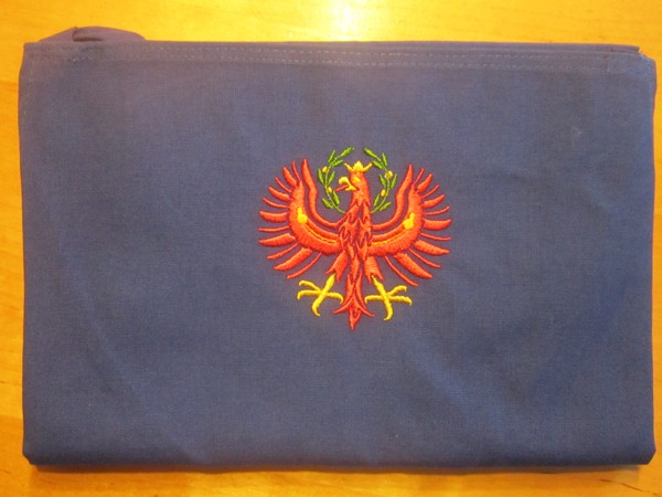 Original Südtiroler Schürze - Roter Adler
