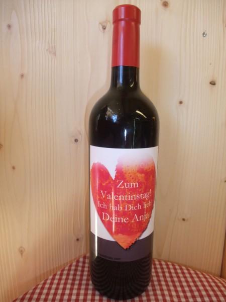 Wein mit Deinem eigenen Etikett - Valentinstag!
